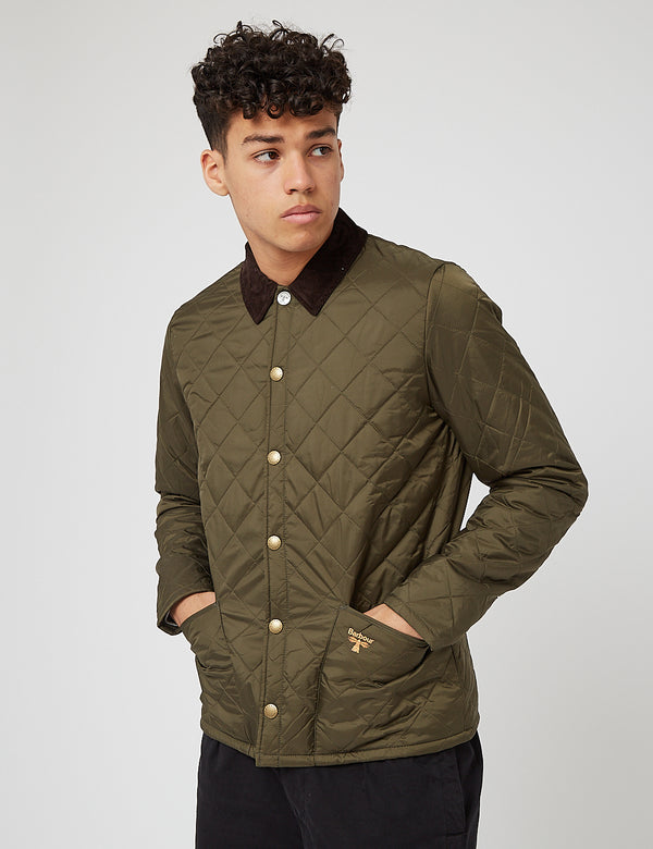 Barbour Beacon Starling Quil Jacket - Olive Green
