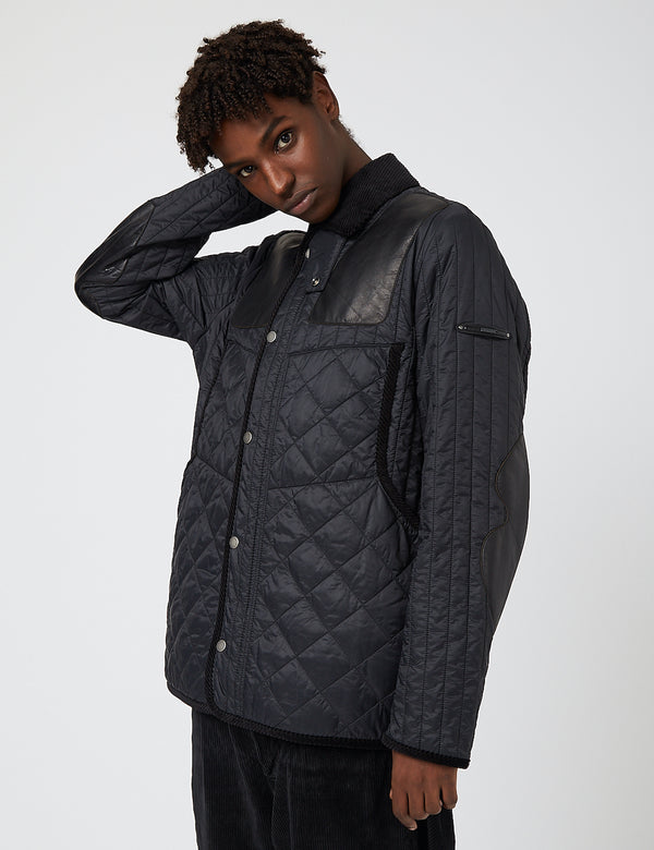 Barbour Gold Standard Supa-Heritage Quilted Jacket - Black