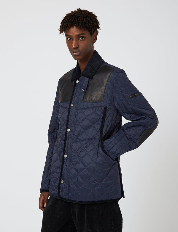 Barbour Gold Standard Supa-Heritage Quilted Jacket - Navy Blue