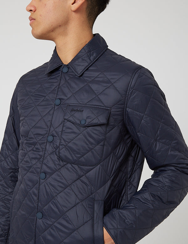 Barbour Tember Quilt Jacket - Navy Blue