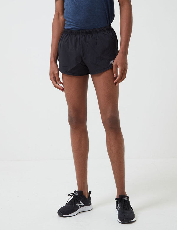 New Balance Short Accelerate Split (3 Pouces) - Noir