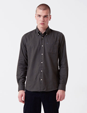 Barbour Don Flannel Shirt - Charcoal Grey