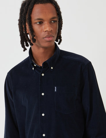 Barbour Cord 1 Tailored Shirt - Navy Blue