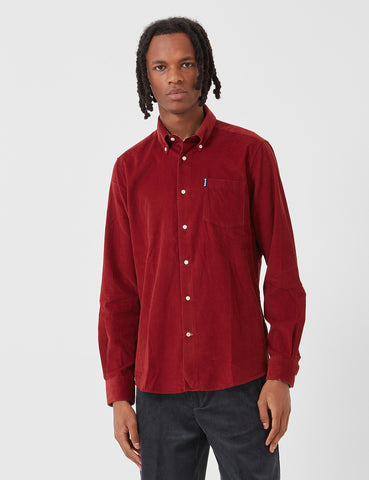 Barbour Cord 1 Tailored Shirt - Rust Red