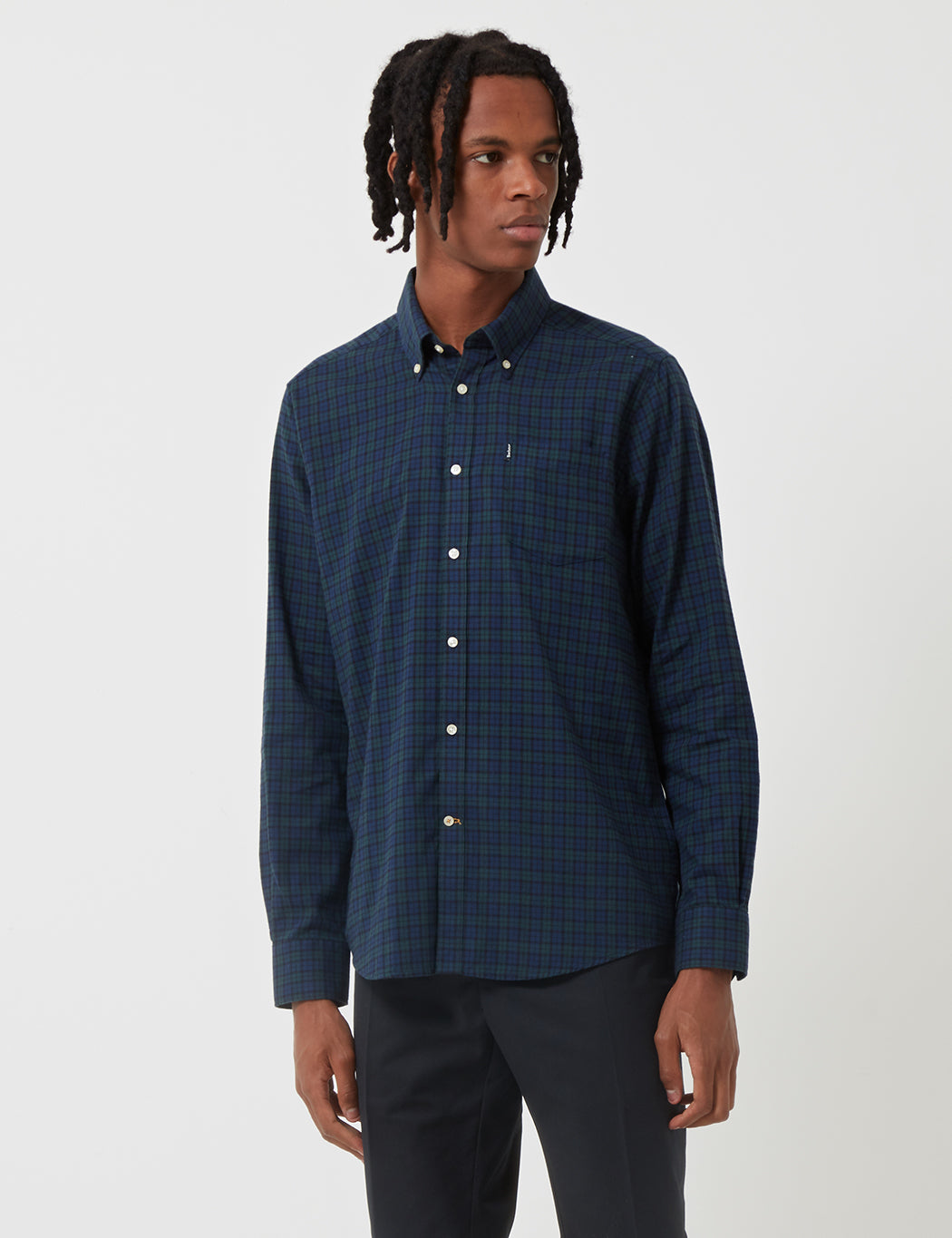Barbour Stapleton Dalton Check Shirt - Navy Blue