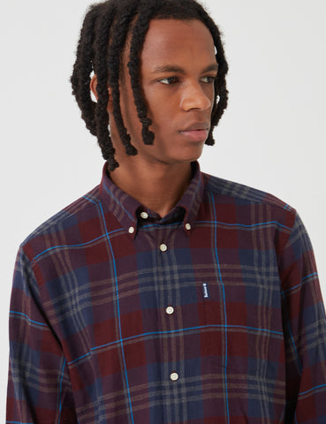 Barbour Highland Check 7 Tailored Shirt - Merlot Red