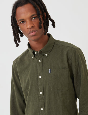 Barbour Herringbone 1 Tailored Shirt - Forest Green