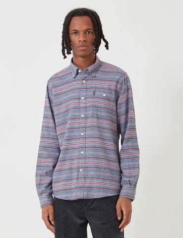 Barbour Lyde Shirt (Stripe) - Crimson Red
