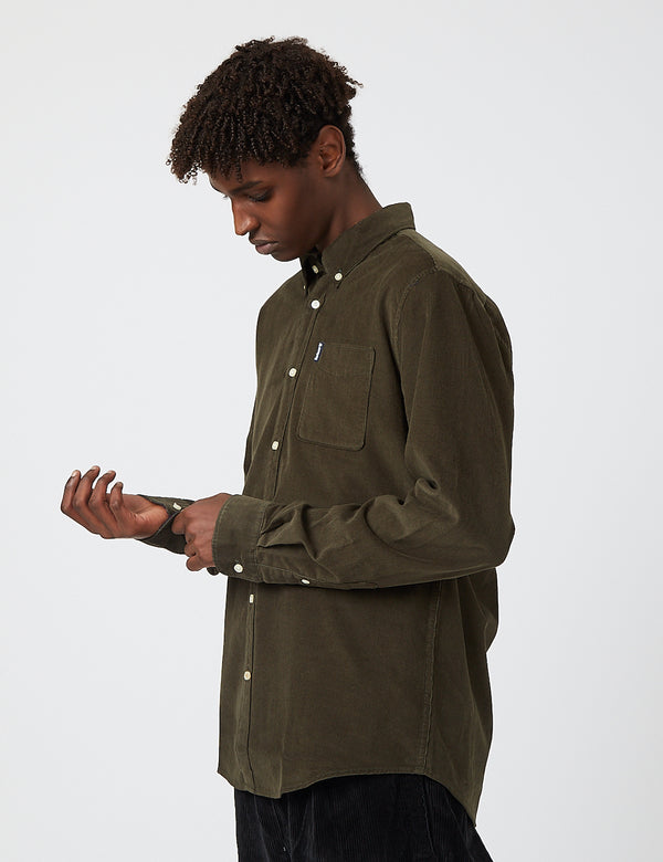 Barbour Cord 2 Tailored Shirt - Forest Green