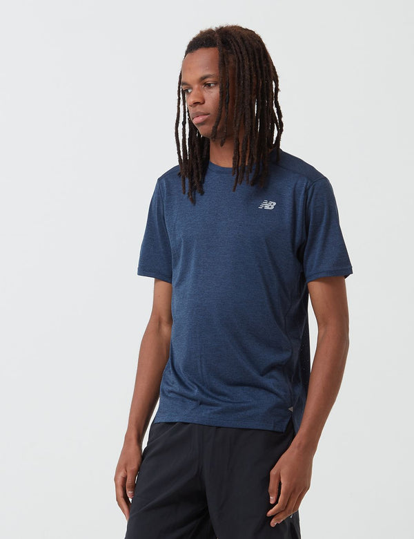 T-Shirt New Balance Impact Run - Bleu