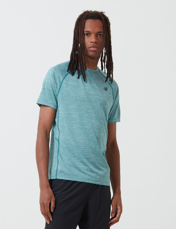 New Balance Tenacity Athletic T-Shirt - Mirage Heather