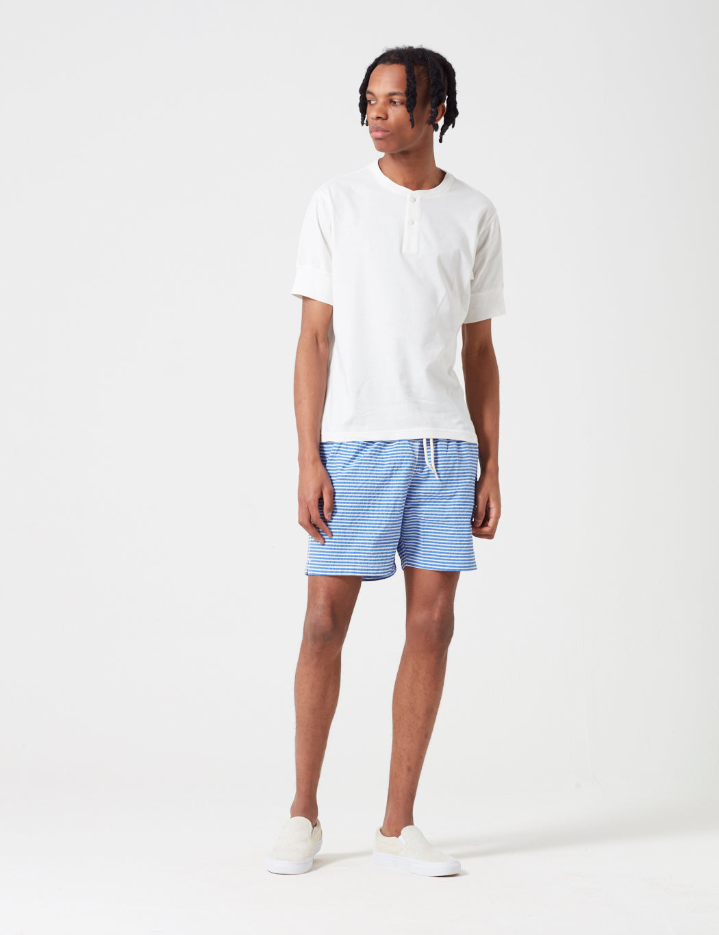 Barbour Milton Stripe Swim Short - Blue