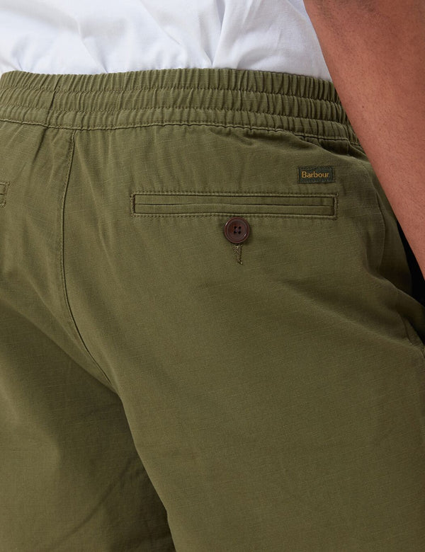 Barbour Bay Ripstop Shorts - Militärgrün