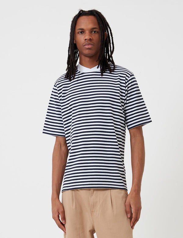 Barbour Inver Stripe T-Shirt (White Label) - Navy Blue