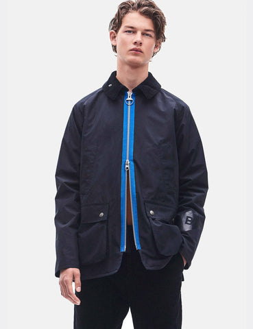 Barbour x Wood Wood Kilde Wax Jacket - Navy Blue