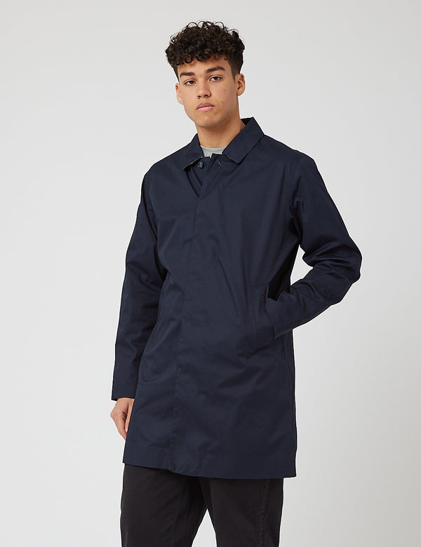 Barbour Rokig Mac Jacket - Navy Blue