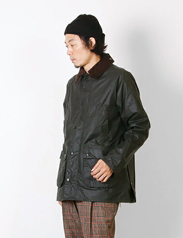 Barbour Waxed Bedale Jacket - Dark Green Sage