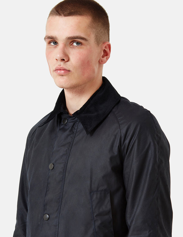 Veste Barbour Ashby Wax - Noir