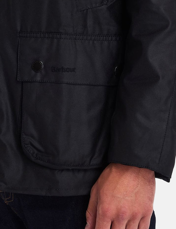 Barbour Ashby Wax Jacket - Schwarz