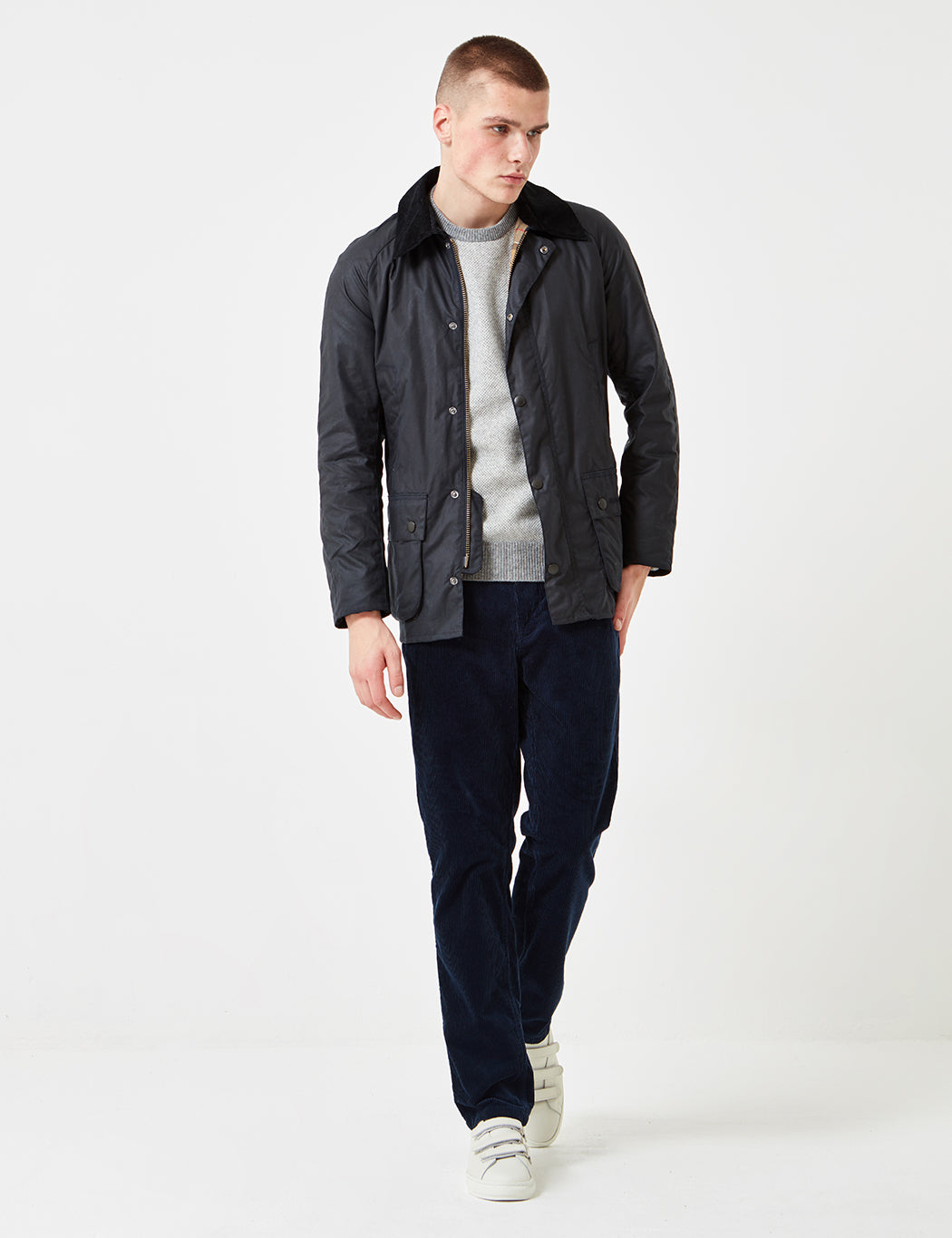 891eb8f3fb1 ... Barbour Ashby Wax Jacket - Navy Blue ...