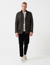 Barbour Corbridge Wax Jacket - Olive Green