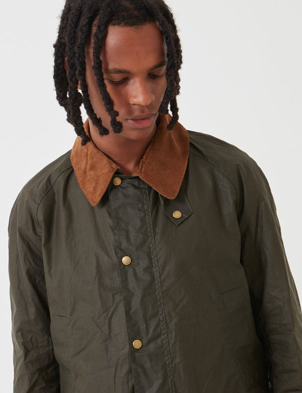 Barbour Lightweight Ashby Wax - Archive Olive Green