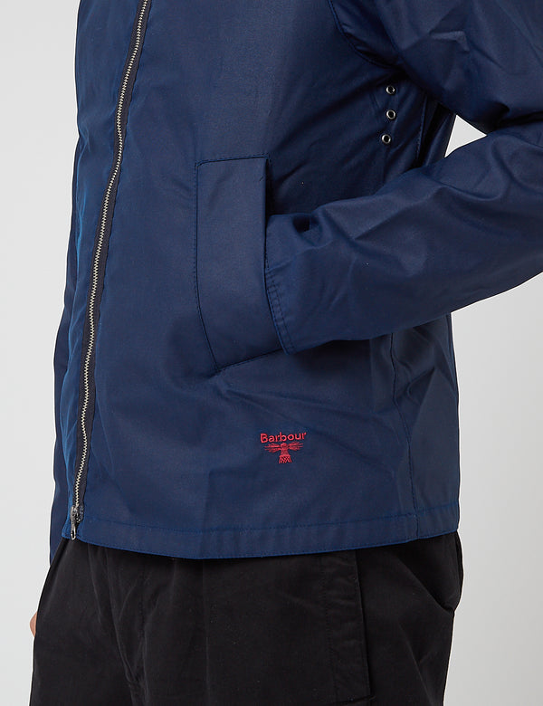 Barbour Beacon Munro Wax Jacket - Regal Blue