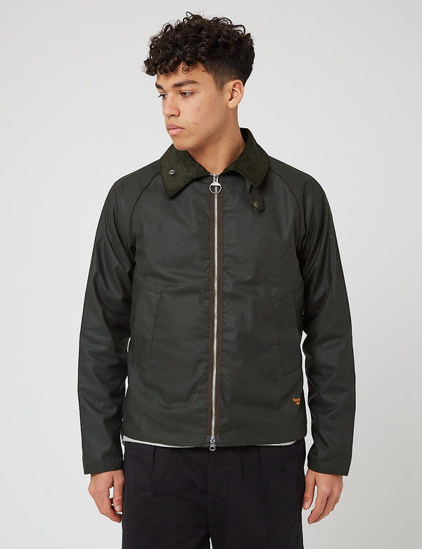 Barbour Beacon Munro Wachsjacke - Salbei