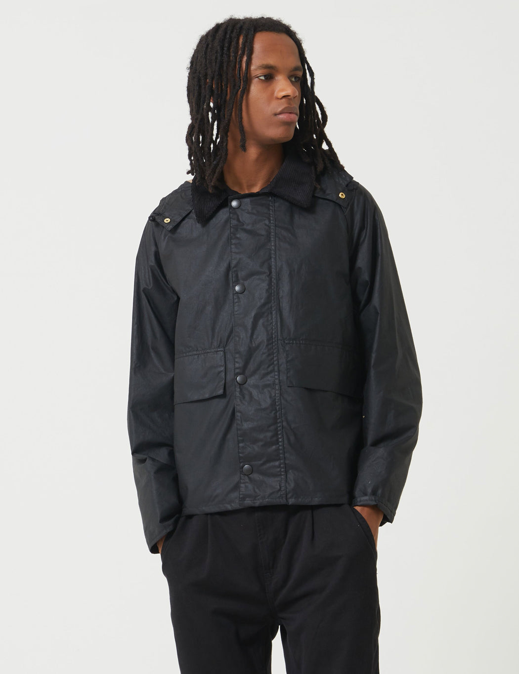 Barbour x Margaret Howell Spey Jacket (Wax) - Black | URBAN EXCESS.