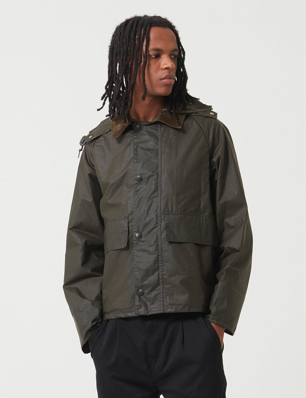 Barbour x Margaret Howell Spey Jacket (Wax) - Archive Olive Green