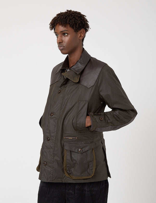 Barbour Gold Standard Supa-Ashby Waxed Cotton Jacket - Olive
