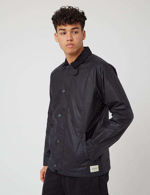 Barbour Gelbin Wax Jacket - Navy Blue