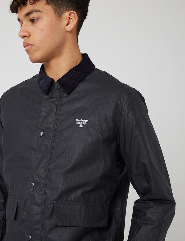 Barbour Beacon Broad Wax Jacket - Navy Blue