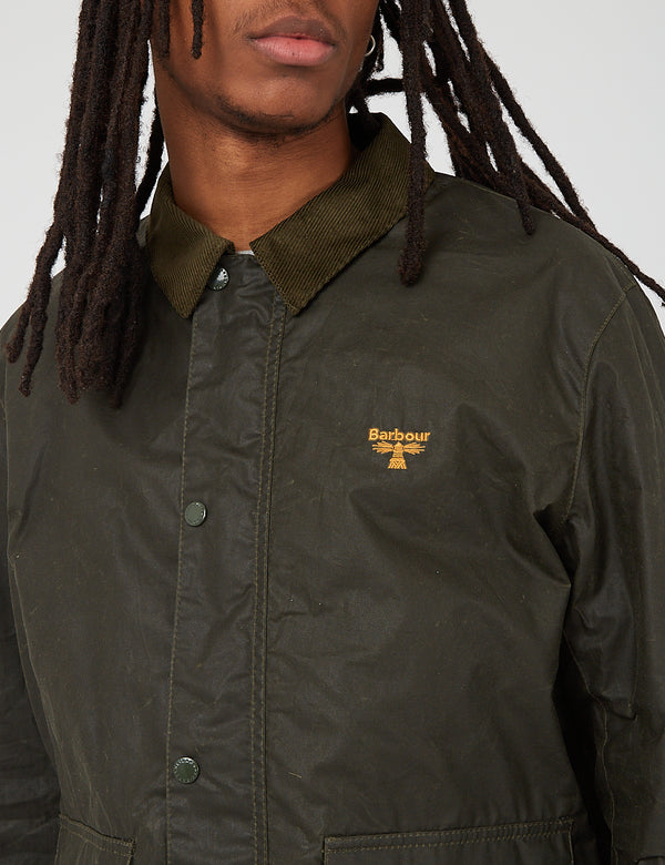 Barbour Beacon Broad Wax Jacket - Archiv Olive