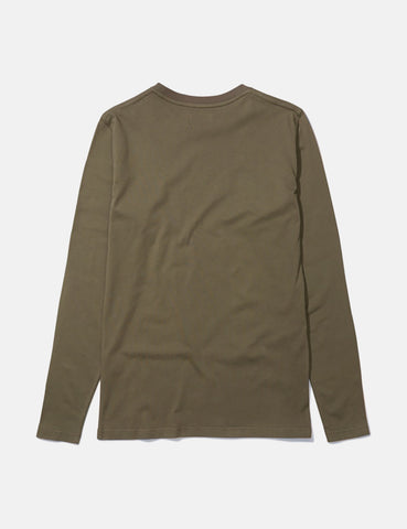 Norse Projects Niels Standard Long Sleeve T-Shirt - Lichen Green