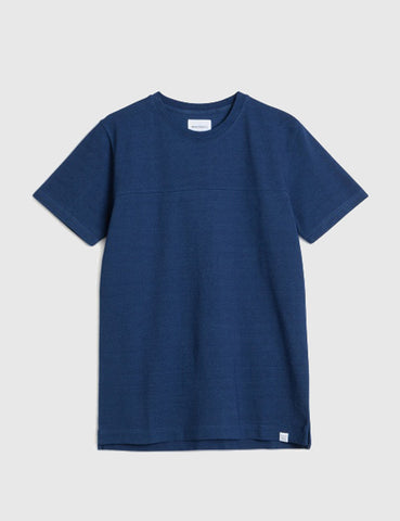 Norse Projects Rasmus Indigo T-Shirt - Dark Indigo