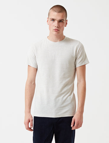 Norse Projects Niels Pocket T-Shirt - Clay/White