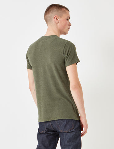 Norse Projects Niels Japanese Pocket T-Shirt - Dried Olive