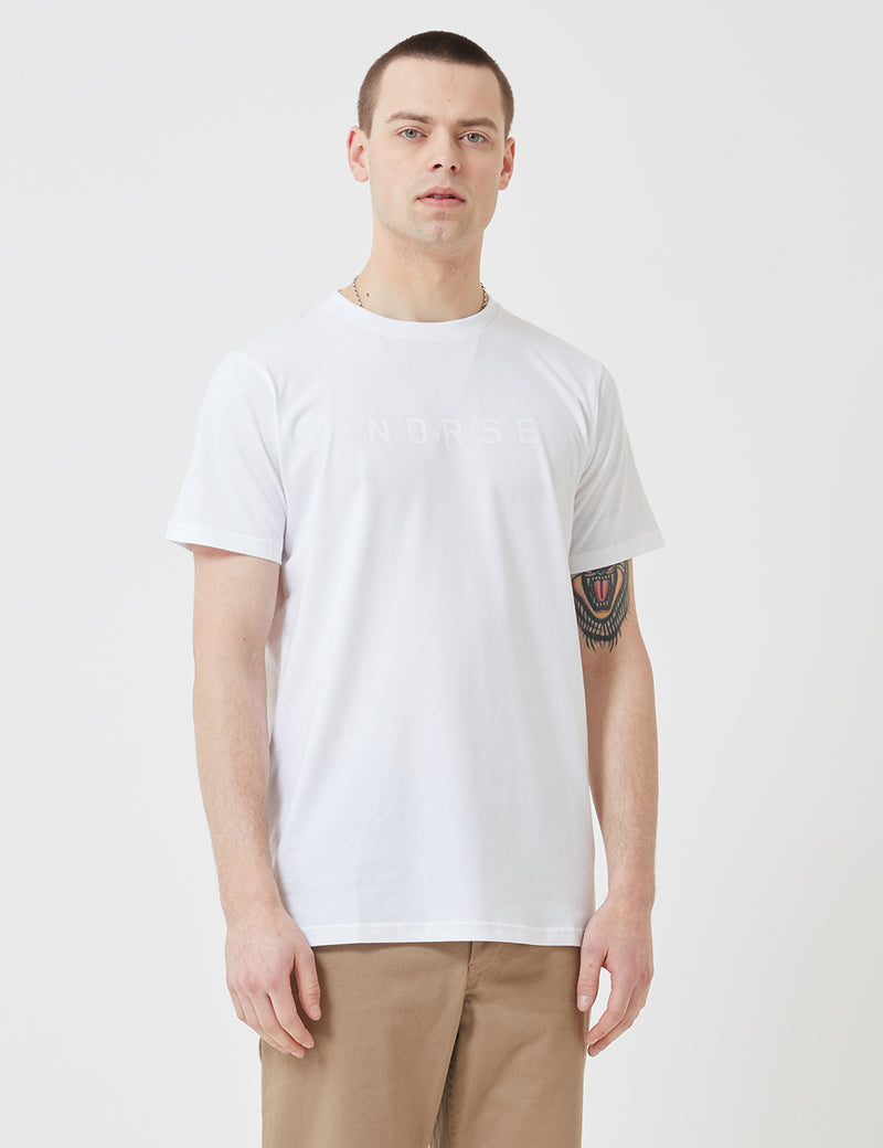 Norse Projects Niels Standard Logo T-Shirt - White