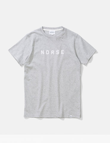 Norse Projects Niels Standard Logo T-Shirt - Light Grey Melange