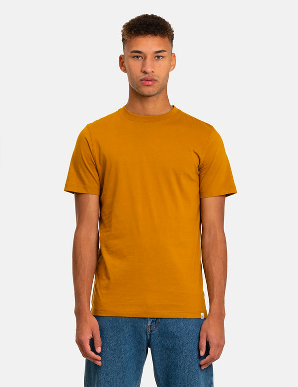 T-Shirt Norse Projects Niels Standard - Jaune Oxyde