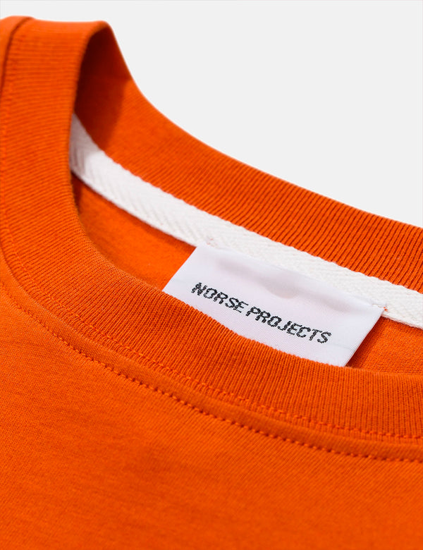 Norse Projects Niels Standard T-Shirt - Signal Orange