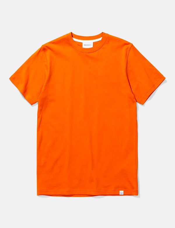 Norse Projects Niels Standard T-Shirt - Cadmium Orange
