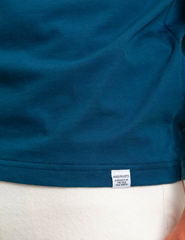 T-Shirt Norse Projects Niels Standard - Deep Teal