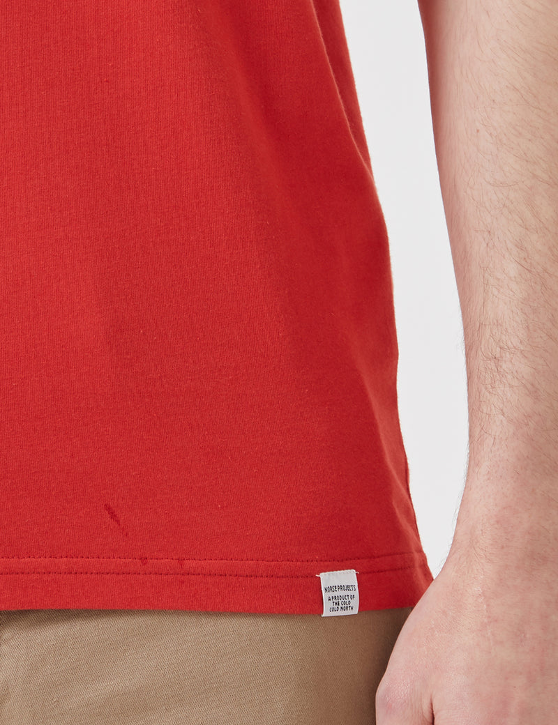 Norse Projects Niels Standard T-Shirt - Askja Red