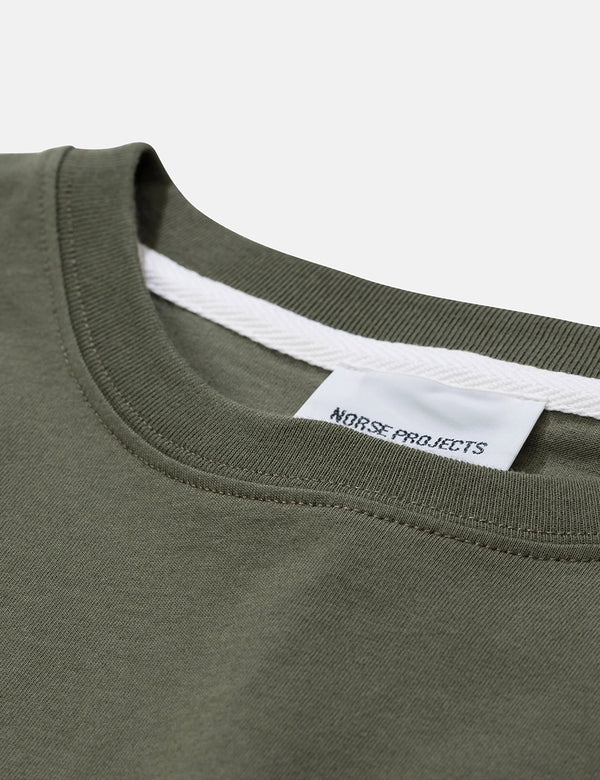 Norse Projects Niels Standard T-Shirt - Dried Olive