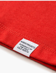 Norse Projects Niels Standard T-Shirt - Coral Red
