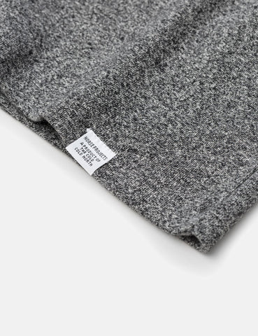 Norse Projects James Melange Rib T-Shirt - Charcoal Grey