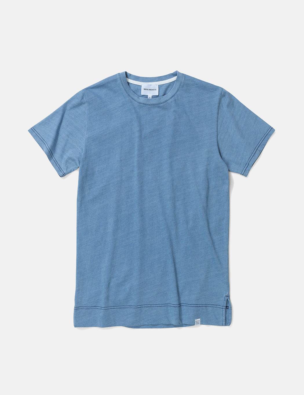 Norse Projects Niels Indigo T-Shirt - Sunwashed Blue