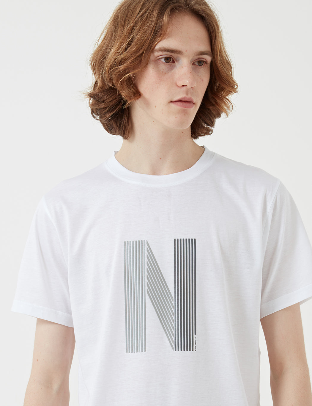 Norse Projects Niels Layer Logo T-Shirt - White